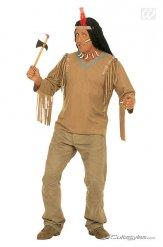 Costume da indiano con frange per uomo taglia grande