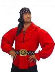 Camicia da pirata rosso per uomo