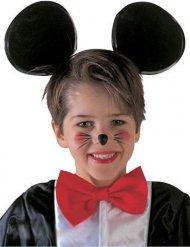 Cerchietto con orecchie nere da topolino per bambino