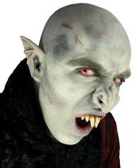 Naso da vampiro grigio in latex per adulto