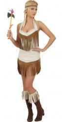 Costume da indiana beige per donna