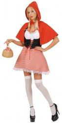 Costume da cappuccetto rosso per donna