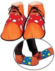 Scarpe multicolore da clown