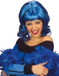 Parrucca glamour  blu per donna