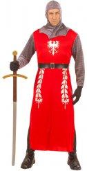 Costume da cavaliere rosso per uomo
