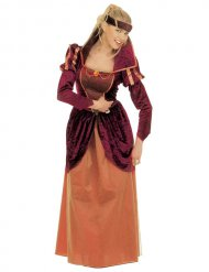 Costume da regina del medioevo per donna