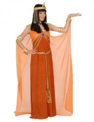 Costume da Cleopatra arancione per donna