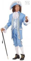 Costume barocco azzurro del rinascimento per uomo