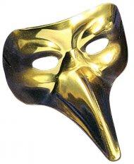 Maschera veneziana con naso dorato