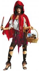 Costume cappuccietto rosso zombie per donna halloween
