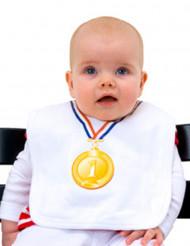 Bavaglino con medaglia per bebè
