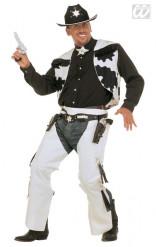 Costume da cow boy bianco e nero per uomo