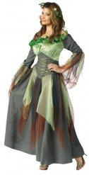 Costume da regina degli elfi verde per donna