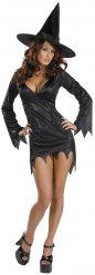 Costume da strega nera sexy per donna