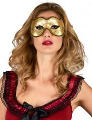 Maschera veneziana dorata per adulto