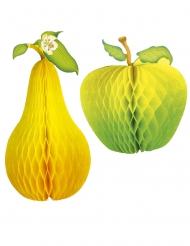 Decorazione mela e pera in carta