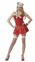 Costume da marinaio rosso per donna