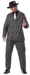 Costume da gangster mafioso in taglia grande per uomo