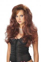 Parrucca lunga ondulata per donna