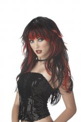 Parrucca Gotica nera e rossa