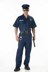 Costume da poliziotto duro per uomo