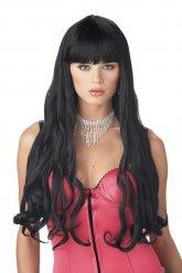 Parrucca lunga nera per donna