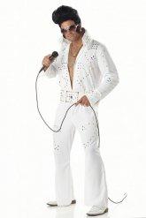 Costume bianco re del rock per uomo