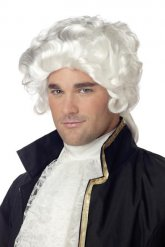 Parrucca bianca da uomo stile barocco