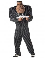 Costume gangster completo con maschera adulto