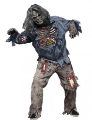 Costume da zombie terribile per uomo Halloween