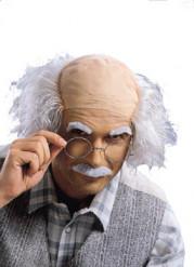 Parrucca, baffi e sopracciglia da scienziato pazzo