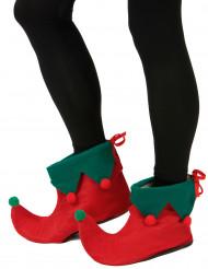 Copriscarpe da elfo con pompon per adulto