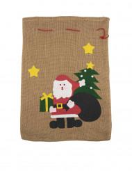 Sacco in iuta Babbo Natale 50 x 35 cm