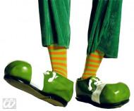 Calze a righe verdi arancioni da clown per adulto