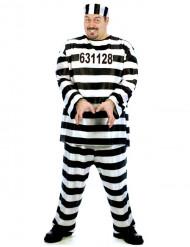 Costume da prigioniero taglia grande per uomo