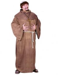 Costume da monaco con parrucca uomo