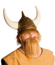 Barba castana chiara da vichingo