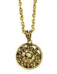 Medaglione dorato da pirata 5 cm