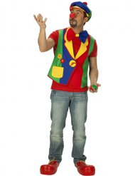 Gilet da clown multicolor per uomo