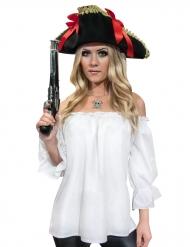 Camicia da pirata bianca per donna