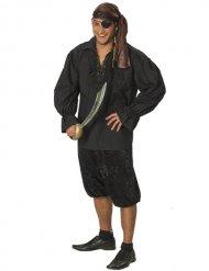 Camicia da pirata nera per adulto