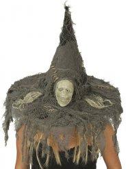 Cappello da strega con teschio Halloween