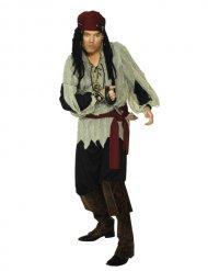 Costume da pirata rosso e nero per uomo