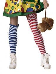 Calze a righe da clown multicolore