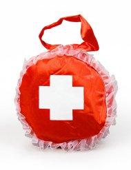 Borsetta da infermiera rossa e bianca