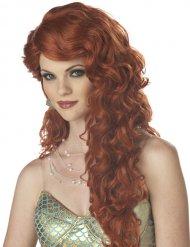Parrucca da Sirena lunghi capelli rossi