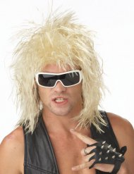Parrucca bionda da rockstar per uomo