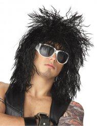 Parrucca da rockstar nera