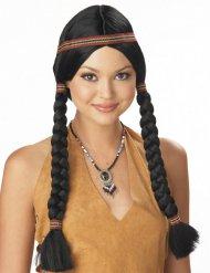Parrucca donna indiana con lunghe trecce