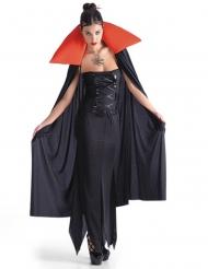 Mantello da vampiro nero e rosso per halloween